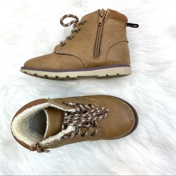 Carter's Other - Carter's Kids Brown Zipper/Lace Up Boots Sz10